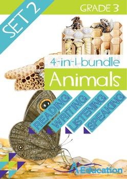 4-IN-1 BUNDLE- Animals (Set 2) – Grade 3