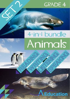 4-IN-1 BUNDLE- Animals (Set 2) – Grade 4