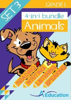 4-IN-1 BUNDLE- Animals (Set 3) – Grade 1