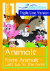 8-IN-1 BUNDLE - Animals (Set 1) Grade 1 (with 'Triple-Track Writing Lines')