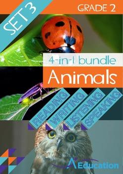 4-IN-1 BUNDLE- Animals (Set 3) – Grade 2
