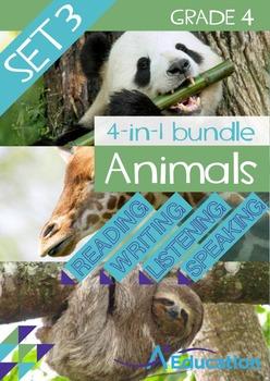 4-IN-1 BUNDLE- Animals (Set 3) – Grade 4