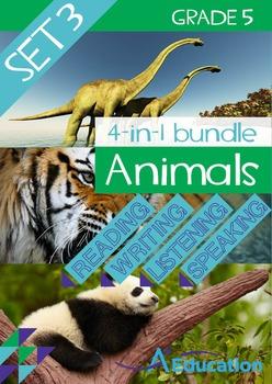 4-IN-1 BUNDLE- Animals (Set 3) – Grade 5