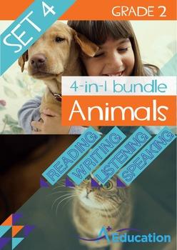 4-IN-1 BUNDLE- Animals (Set 4) – Grade 2
