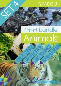 4-IN-1 BUNDLE- Animals (Set 4) – Grade 3