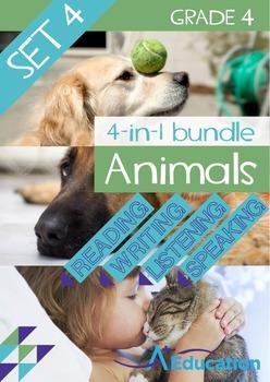 4-IN-1 BUNDLE- Animals (Set 4) – Grade 4