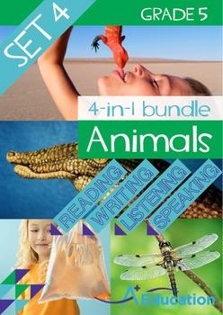 4-IN-1 BUNDLE- Animals (Set 4) – Grade 5
