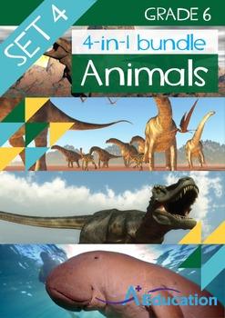 4-IN-1 BUNDLE- Animals (Set 4) – Grade 6