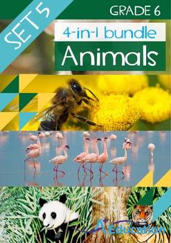 4-IN-1 BUNDLE- Animals (Set 5) – Grade 6
