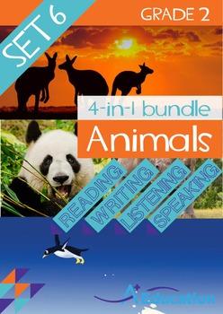 4-IN-1 BUNDLE- Animals (Set 6) – Grade 2