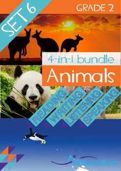 4-IN-1 BUNDLE- Animals (Set 6) – Grade 2