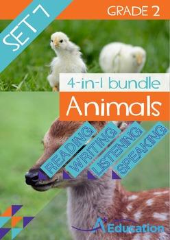 4-IN-1 BUNDLE- Animals (Set 7) – Grade 2
