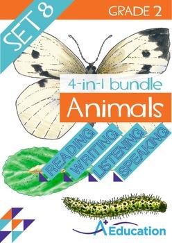 4-IN-1 BUNDLE- Animals (Set 8) – Grade 2