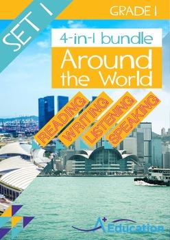 4-IN-1 BUNDLE- Around the World (Set 1) – Grade 1
