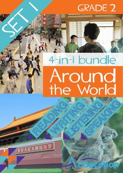 4-IN-1 BUNDLE- Around the World (Set 1) – Grade 2