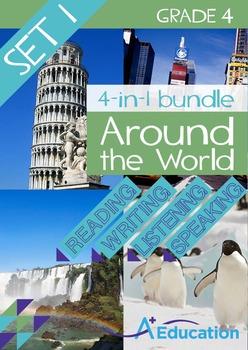 4-IN-1 BUNDLE- Around the World (Set 1) – Grade 4