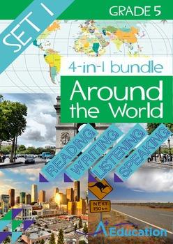 4-IN-1 BUNDLE- Around the World (Set 1) – Grade 5