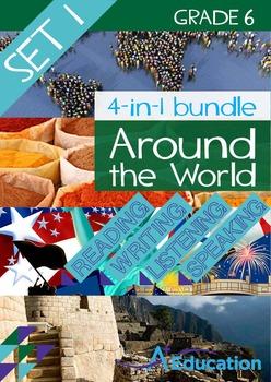 4-IN-1 BUNDLE- Around the World (Set 1) – Grade 6