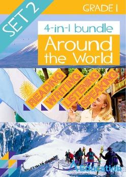 4-IN-1 BUNDLE- Around the World (Set 2) – Grade 1