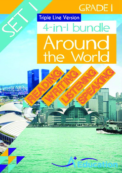 4-IN-1 BUNDLE - Around the World (Set 1) Grade 1 ('Triple-Track Writing Lines')