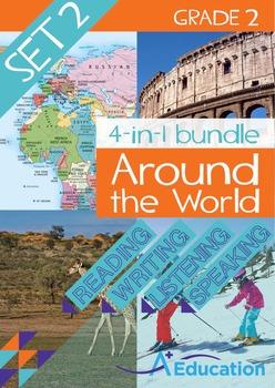 4-IN-1 BUNDLE- Around the World (Set 2) – Grade 2