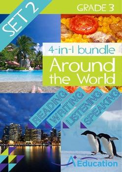 4-IN-1 BUNDLE- Around the World (Set 2) – Grade 3