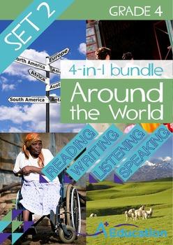 4-IN-1 BUNDLE- Around the World (Set 2) – Grade 4