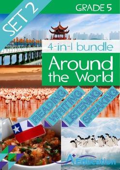 4-IN-1 BUNDLE- Around the World (Set 2) – Grade 5