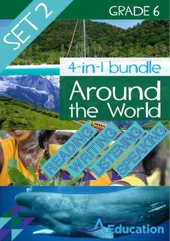 4-IN-1 BUNDLE- Around the World (Set 2) – Grade 6