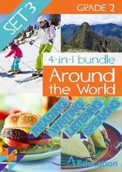4-IN-1 BUNDLE- Around the World (Set 3) – Grade 2