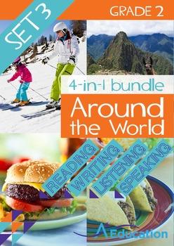 4-IN-1 BUNDLE- Around the World (Set 3) – Grade 2