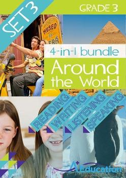 4-IN-1 BUNDLE- Around the World (Set 3) – Grade 3