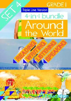 4-IN-1 BUNDLE - Around the World (Set 4) Grade 1 ('Triple-