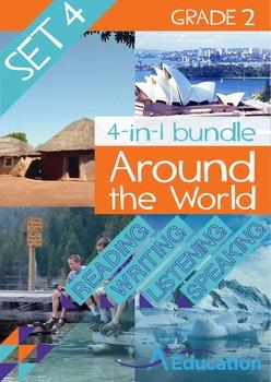 4-IN-1 BUNDLE- Around the World (Set 4) – Grade 2