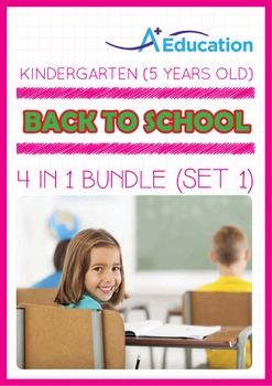 4-IN-1 BUNDLE - Back To School (Set 1) - Kindergarten, K3 (5 years old)