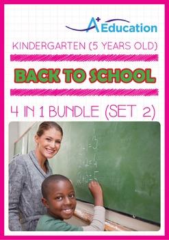 4-IN-1 BUNDLE - Back To School (Set 2) - Kindergarten, K3 (5 years old)