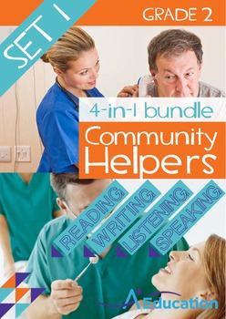 4-IN-1 BUNDLE- Community Helpers (Set 1) – Grade 2