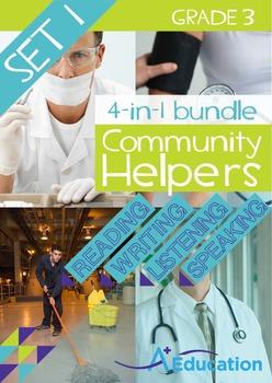 4-IN-1 BUNDLE- Community Helpers (Set 1) – Grade 3