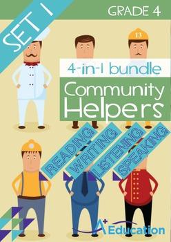 4-IN-1 BUNDLE- Community Helpers (Set 1) – Grade 4