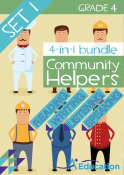 4-IN-1 BUNDLE- Community Helpers (Set 1) – Grade 4