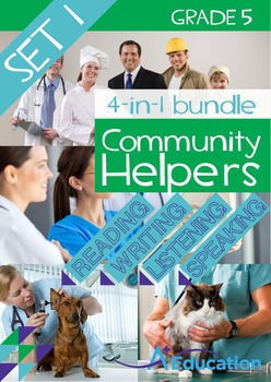 4-IN-1 BUNDLE- Community Helpers (Set 1) – Grade 5