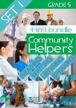 4-IN-1 BUNDLE- Community Helpers (Set 1) – Grade 5