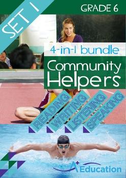 4-IN-1 BUNDLE- Community Helpers (Set 1) - Grade 6