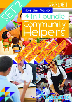4-IN-1 BUNDLE - Community Helpers (Set 2) Grade 1 ('Triple-Track Writing Lines')