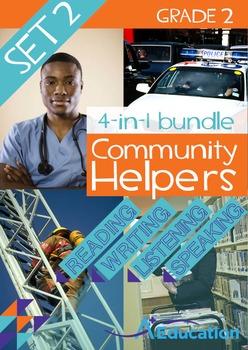 4-IN-1 BUNDLE- Community Helpers (Set 2) – Grade 2