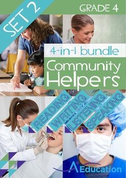 4-IN-1 BUNDLE- Community Helpers (Set 2) – Grade 4