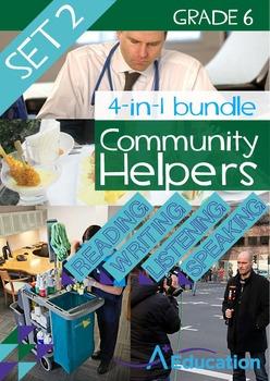 4-IN-1 BUNDLE- Community Helpers (Set 2) - Grade 6