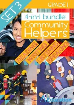 4-IN-1 BUNDLE- Community Helpers (Set 3) – Grade 1