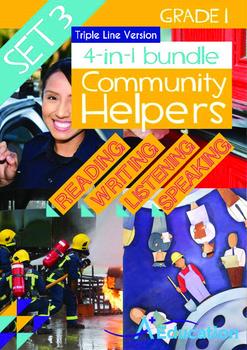 4-IN-1 BUNDLE - Community Helpers (Set 3) Grade 1 ('Triple