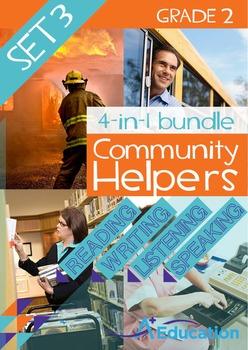 4-IN-1 BUNDLE- Community Helpers (Set 3) – Grade 2